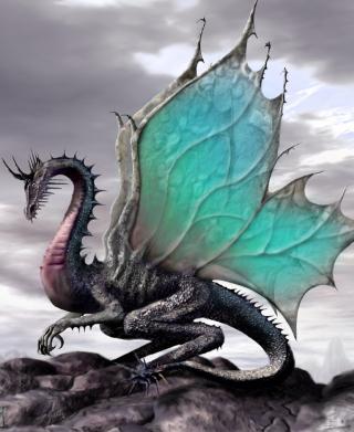 Green Dragon - Obrázkek zdarma pro 128x160
