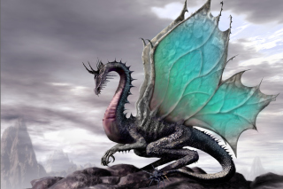 Green Dragon - Obrázkek zdarma pro Sony Xperia Z