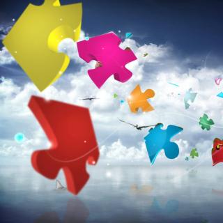 Colorful Puzzle - Obrázkek zdarma pro 1024x1024