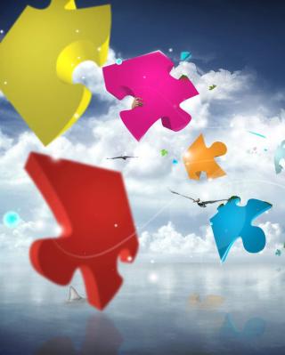 Colorful Puzzle - Obrázkek zdarma pro 128x160