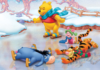 Christmas Pooh Picture for Android, iPhone and iPad