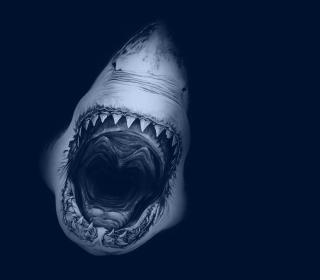 Huge Toothy Shark - Obrázkek zdarma pro iPad Air
