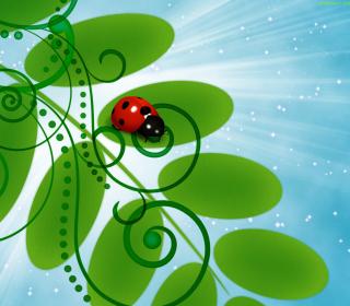 3D Ladybug - Obrázkek zdarma pro 208x208