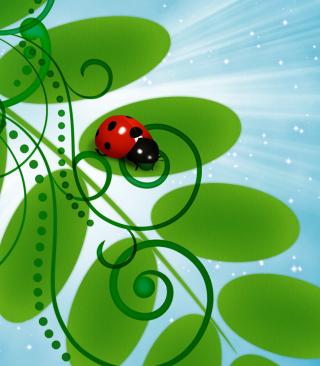 3D Ladybug - Obrázkek zdarma pro Nokia Asha 310