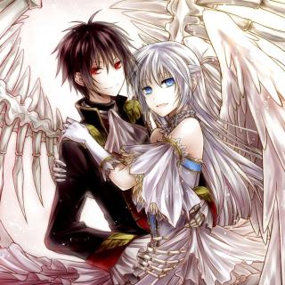 Anime Angel And Demon Love - Obrázkek zdarma pro iPad mini 2