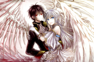Anime Angel And Demon Love - Obrázkek zdarma pro HTC Wildfire