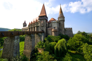 Corvin Castle in Romania, Transylvania Background for Android, iPhone and iPad