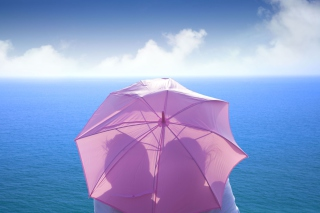 Romance Behind Pink Umbrella Wallpaper for Android, iPhone and iPad