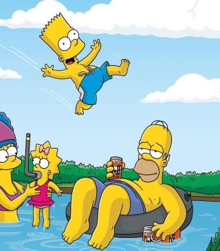 The Simpsons Swim - Obrázkek zdarma pro Nokia Asha 202