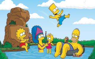 The Simpsons Swim - Obrázkek zdarma pro Nokia Asha 302