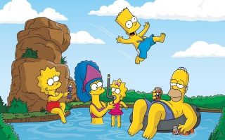 The Simpsons Swim - Obrázkek zdarma pro Widescreen Desktop PC 1600x900