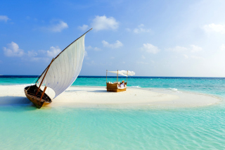 Beautiful beach leisure on Maldives - Obrázkek zdarma pro 800x480
