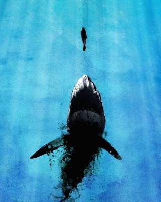 Shark And Swimmer - Obrázkek zdarma pro 1080x1920