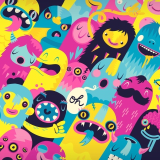 Oh Monsters - Obrázkek zdarma pro iPad Air