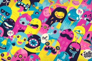 Oh Monsters Wallpaper for Android, iPhone and iPad