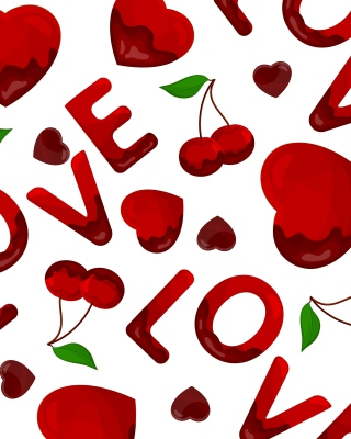 Love Cherries and Hearts - Obrázkek zdarma pro iPhone 3G