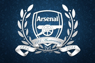 Arsenal Anniversary Logo Background for Android, iPhone and iPad