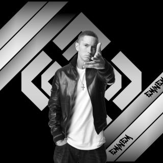 Eminem Black And White - Obrázkek zdarma pro 2048x2048