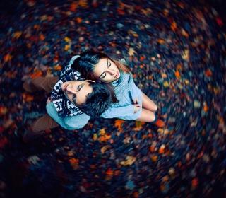 Autumn Couple's Portrait - Obrázkek zdarma pro 320x320