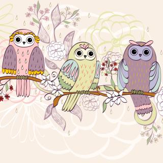 Owls Texture - Obrázkek zdarma pro 320x320