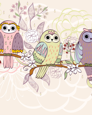 Owls Texture - Obrázkek zdarma pro 128x160