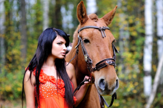 Girl with Horse - Obrázkek zdarma pro Samsung T879 Galaxy Note