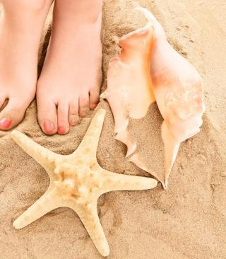 Sun Sand Shells - Obrázkek zdarma pro Nokia X1-00