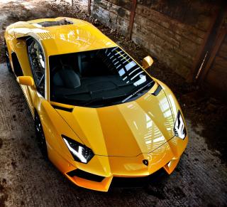 Lamborghini Aventador Yellow - Obrázkek zdarma pro 320x320
