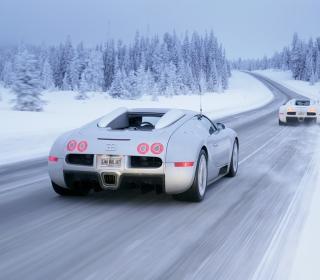 Bugatti Veyron In Winter - Obrázkek zdarma pro iPad mini 2