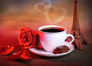 Romantic Coffee Background for Android, iPhone and iPad