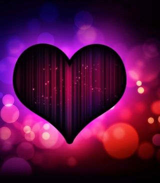Neon Heart - Obrázkek zdarma pro Nokia X3-02