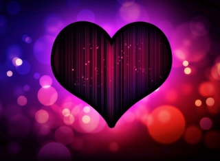 Neon Heart Picture for Android, iPhone and iPad