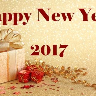 Happy New Year 2017 with Gifts - Obrázkek zdarma pro 2048x2048