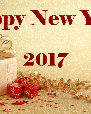 Happy New Year 2017 with Gifts - Obrázkek zdarma pro iPhone 5C