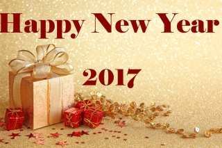 Happy New Year 2017 with Gifts Picture for Android, iPhone and iPad