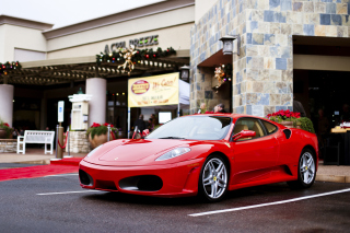 Ferrari F430 in City Wallpaper for Android, iPhone and iPad