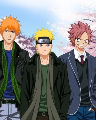 Ichigo Kurosaki, Naruto Uzumaki, Natsu Dragneel, Luffy Wallpaper for LG KF600
