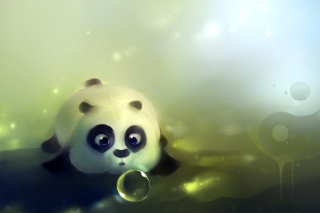 Free Panda And Bubbles Picture for Android, iPhone and iPad