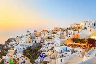 Santorini Greece sfondi gratuiti per cellulari Android, iPhone, iPad e desktop