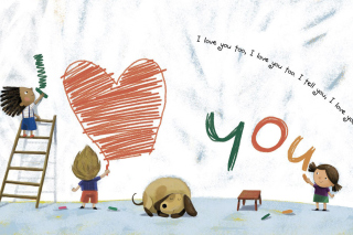 I Love You Creatures Wallpaper for Android, iPhone and iPad