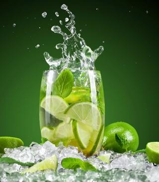 Glass With Lime - Obrázkek zdarma pro Nokia C-Series
