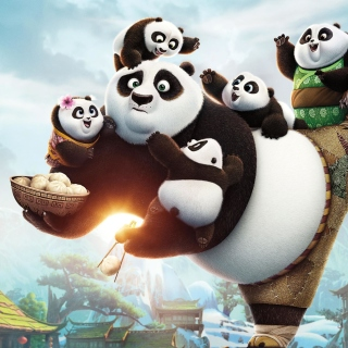 Kung Fu Panda Family - Obrázkek zdarma pro 208x208
