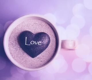 Love Heart In Coffee Cup - Obrázkek zdarma pro 1024x1024