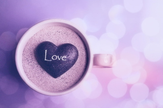 Love Heart In Coffee Cup - Obrázkek zdarma pro Widescreen Desktop PC 1920x1080 Full HD
