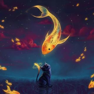 Cats Fantasy - Obrázkek zdarma pro iPad mini 2