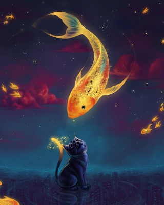 Cats Fantasy - Obrázkek zdarma pro Nokia Asha 308