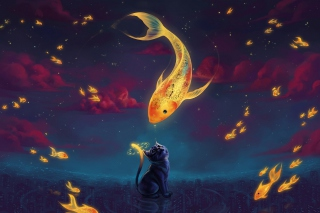 Cats Fantasy - Obrázkek zdarma pro Samsung Galaxy Q