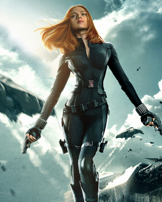 Captain America The Winter Soldier - Black Widow - Obrázkek zdarma pro 480x640
