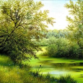 Nature, Painting, Canvas - Obrázkek zdarma pro 1024x1024