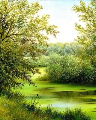 Nature, Painting, Canvas - Obrázkek zdarma pro iPhone 5C